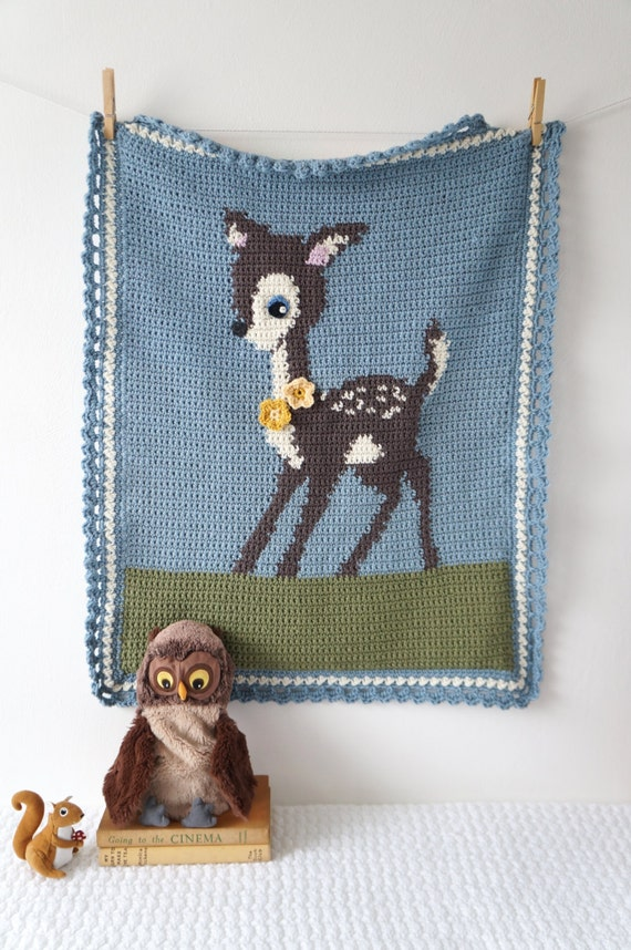Woodland Nursery Deer Blanket Patterns For Baby Boy