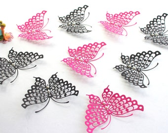 3d wall butterfly decoration - butterfly wall hanging - paper butterflies - baby shower decorations for girls - woodland nursery decor