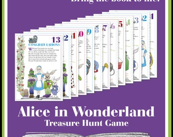 Alice in Wonderland Treasure Hunt Game