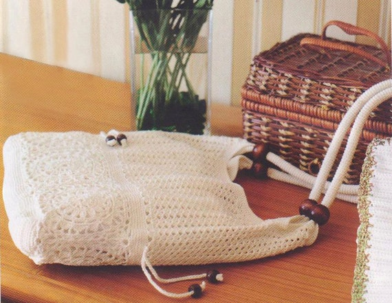 Crochet Bucket Bag Pattern : Crochet bag PATTERN, crochet shoulder bag pattern, crochet tote ...