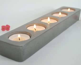 Concrete Tea Light Candle Holder / Industrial Decor