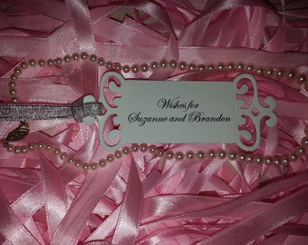 25 Wedding Wishes tags Custom Names