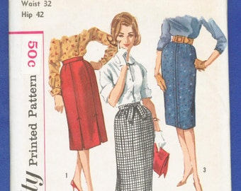 1960s  Misses' Set of Skirts - Simplicity Sewing Pattern 3744