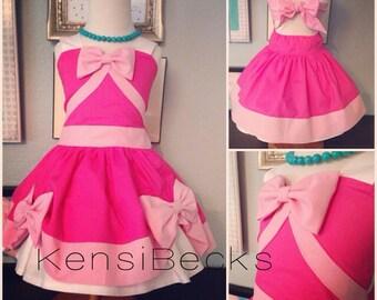 Pink Princess Birthday Cinderella Mouse Dress Disney Inspired