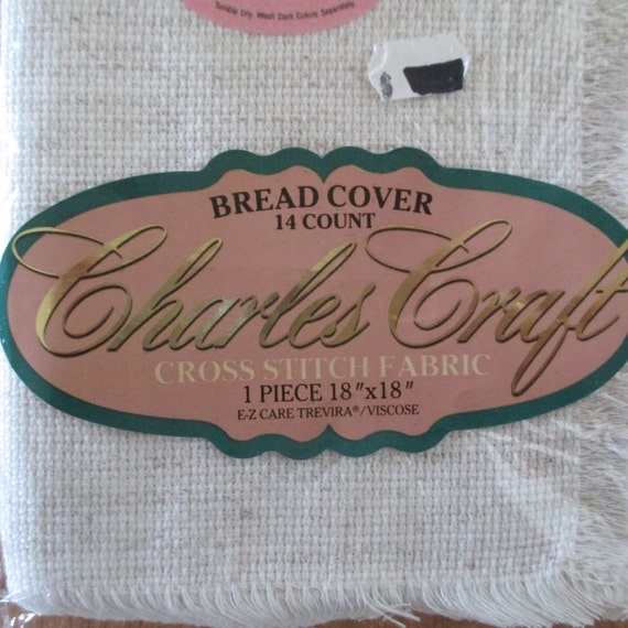 Charles craft bread cover oatmeal cross stitch fabric by for Charles craft cross stitch fabric