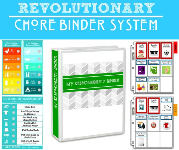 CHORE BINDER SYSTEM: Teaching your kids to be responsible and building family unity, while keeping your home tidy