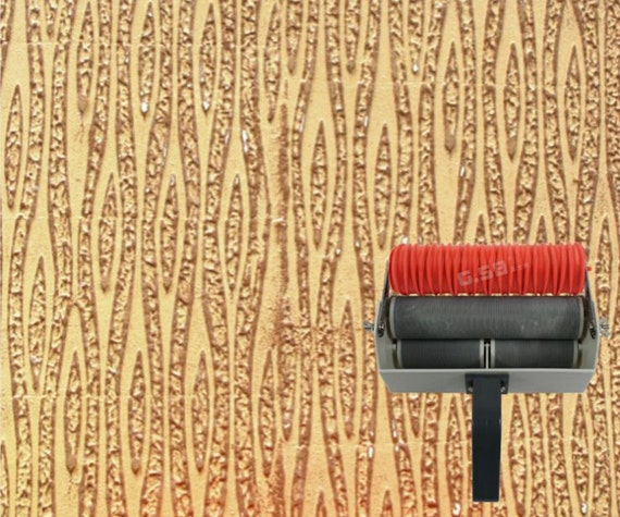 Wall Design Paint Roller : Tv wall print patterned paint roller liquid pattern by