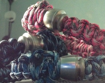 "Paracord ""Hidden Pipe"" Bracelets  -  You Choose The Color  **Read WHOLE Listing** **PRICE REDUCED Until 7/28**"