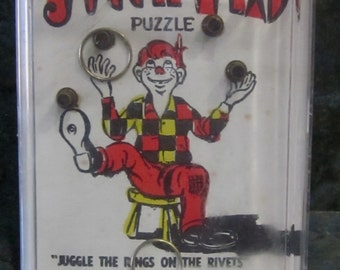 Juggle Head Hand Held Puzzle Game 1960 Era