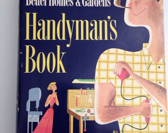SALE Better Homes and Gardens Handyman's Book Huge  Reference  1951 FIRST EDITION