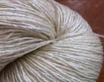 SOCK SW Glimmer Merino and Silver Stellina 84/16 Undyed Yarn, Dye Your Own Merino Wool Sock Yarn Base, Undyed Sock Yarn