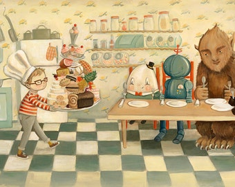 Dream Animals Kitchen Dream / Large Print