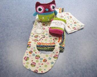 Olivia Owl Flannel Baby Blanket