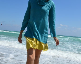 The Hooded Fleece tunic. Organic hemp fleece. Made to order.