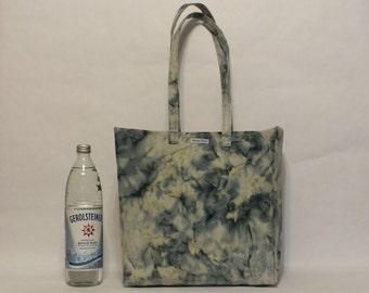 One of a Kind Market Line Bag in print Batik Blue Water