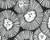 CHRYSANTHEMUMS LINOCUT PRINT - Black& White Abstract Flower Print - 8x10 Block Print