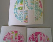 Lilly Inspired Monogram Decals-Set of 4