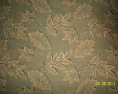 Vintage 1950s Bark Cloth Linen Green Stylized Ducidious Leaves 50x70 Inches Table Cloth Bed Accent