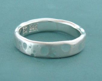 Recycled Sterling Silver Wedding Ring - Shoreline - Choose a Width