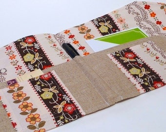 Moleskine Holder, Stationery and Letter Organizer-  Etsy Find - In Touch Clutch (tm) in Folklore Stripe