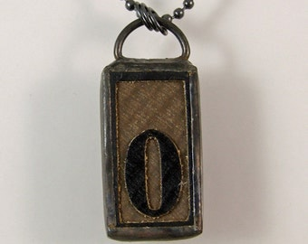 Number 0 Pendant Necklace
