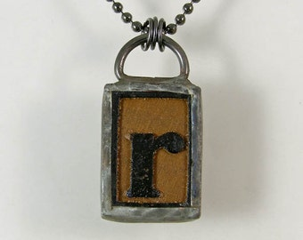 Letter R Pendant Necklace