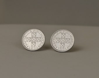 Portugal  Coin Post Earrings 1971