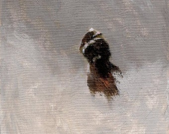 Braving the Storm 8x10 Canvas Giclee Print of Original Oil Painting by Kathleen Farmer Denver Artist