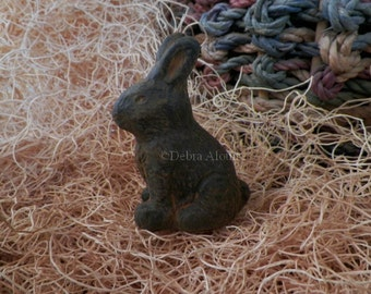 Bunny Rabbit Silicone Beeswax Mold Soap Mold Wax Mold Handmade Sculpted Original Design Primitive Easter Basket Holiday Molds