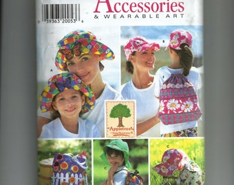 Simplicity  Bags and Hats in One Adult Size and One Child Size Pattern 7539