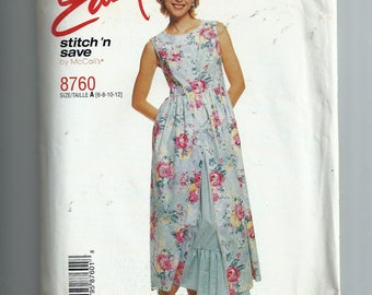 McCall's Misses' Dress and Petticoat Pattern 8760