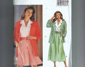Butterick Misses' /Misses' Petite Jacket, Top,, Split Skirt, and Belt Pattern 6704