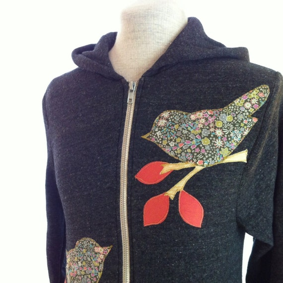 LIMITED EDTION Liberty Love Bird Hoodie, Charcoal Gray, Small, Medium, Large, XLarge