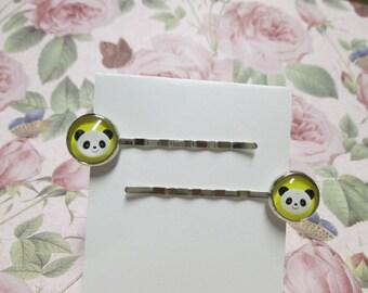 Happy Panda Hairpins