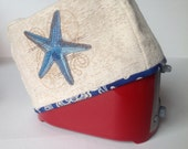 2 or 4 Slice Toaster Cover - Starfish or an Optical Illusion or many other designs available - One design on each side
