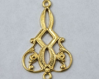 20mm Gold Filigree Chandelier (2 Pcs) #1676