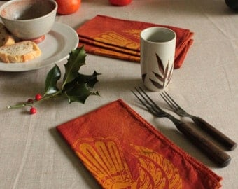 double wings tribal batik napkins