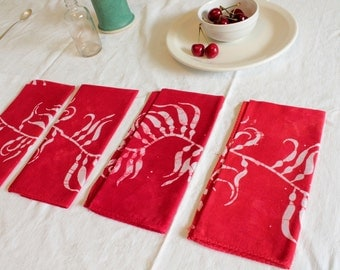 cherry red kelp napkins