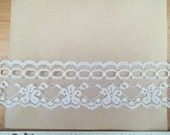 BEADING LACE 1-1/2 WHITE Scalloped Floral 5 yds. Lingerie Doll Clothes Crafts