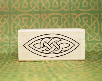 Celtic Knot Ellipse Rubber Stamp Classic and Graceful #120