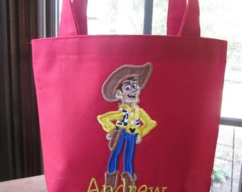 TOTE BAG Woody Personalized Toddler or Big Kid Tote