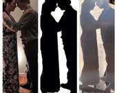 Custom Couples Metal Silhouette for Wedding Centerpiece or Cake Topper