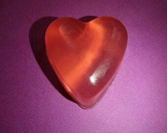 3 Pink Small Heart Glycerin Soaps