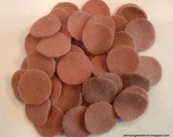Shades of Rose 50 -1 inch Wool Penny Rug Circles
