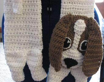 Crochet Pattern - Basset Hound Dog Pattern - Dog Lover Gift - Basset Hound Pattern - Animal Pattern - Men's Scarf - Women's Scarves - Dogs