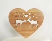 Deer-ly Beloved Woodland Cake Topper - Bamboo - Wedding Cake Topper - Rustic Wedding - Modern Wedding
