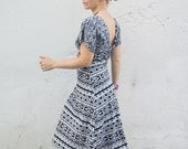 African love tribal patterned cotton jersey summer dress