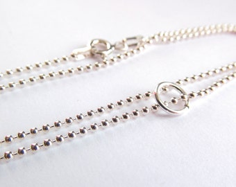 Sterling Chain Upgrade - 16 inch 1mm Ball Chain