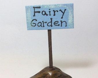 Fairy Garden Miniature sign