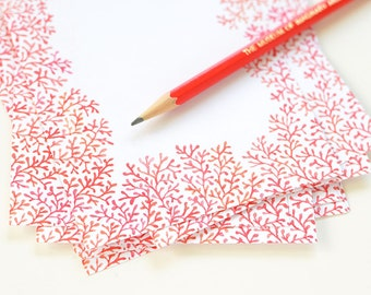 Crimson Clearing | Loose-Leaf Note Paper Pages | Illustrated Stationary